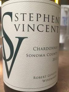 2013 Stephen Vincent Sonoma Chardonnay