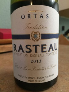 2013 Ortas Rasteau