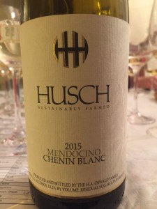 2015 Husch Vineyards Chenin Blanc
