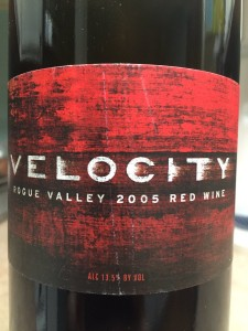 2005 Velocity Cellars Rogue Valley