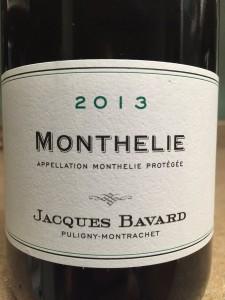 2013 Jacques Bavard Monthelie Chardonnay