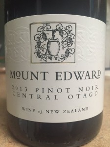 2013 Mount Edward Central Otago Pinot Noir