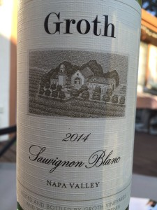 2014 Groth Wines Napa Valley Sauvignon Blanc