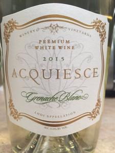 2015 Acquiesce Lodi Grenache Blanc